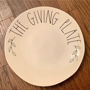 """Rae Dunn THE GIVING PLATE - 11"""" Plate"""